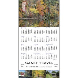 State Tour Z-Fold Greeting Card Calendar with Your Slogan