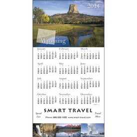 Personalized State Tour Z-Fold Greeting Card Calendar
