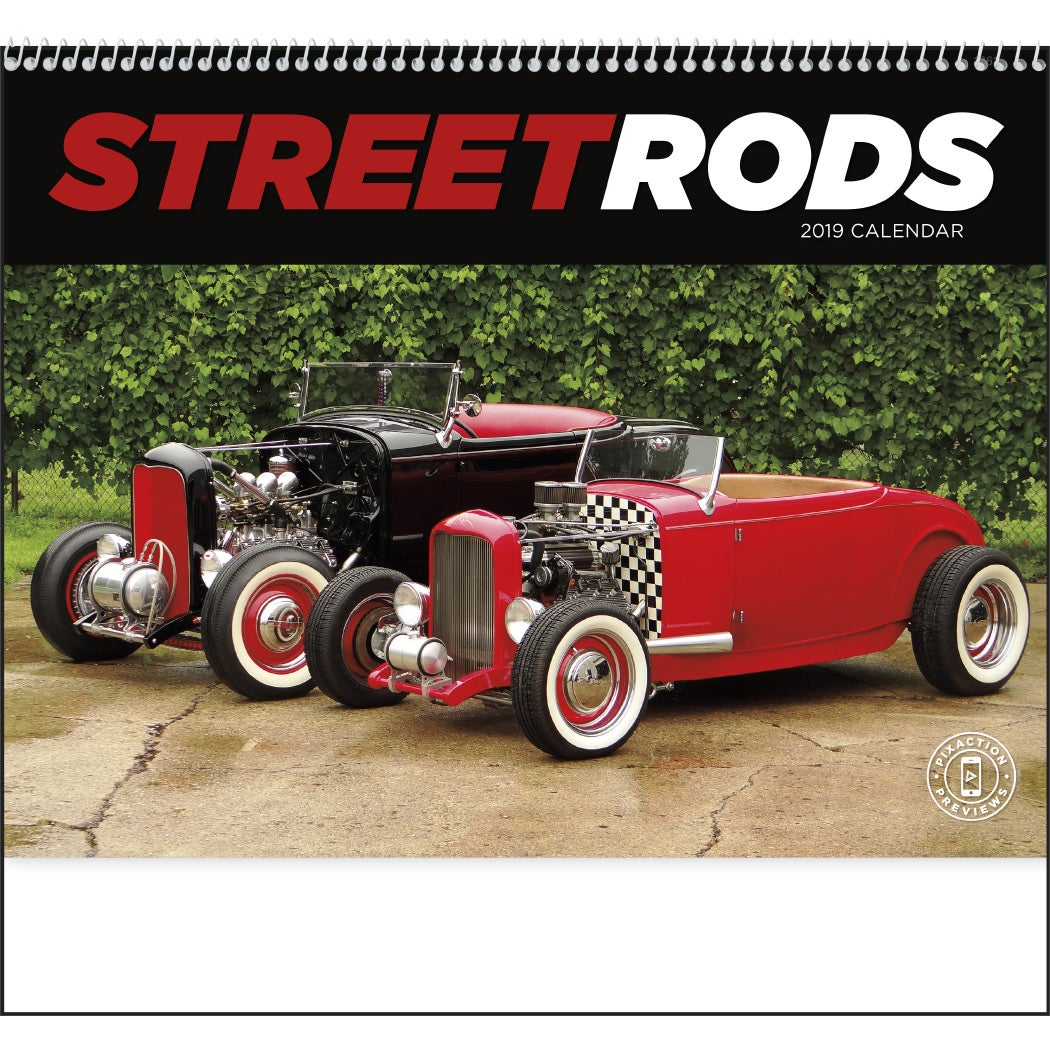 Promotional 2019 Street Rods Appointment Calendars with Custom Logo ...