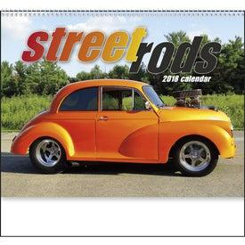 Imprinted Street Rods Spiral Calendar