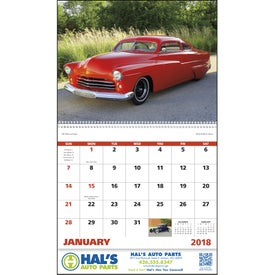 Street Rods Spiral Calendar Branded with Your Logo