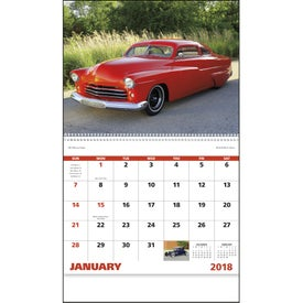 Street Rods Spiral Calendar Printed with Your Logo