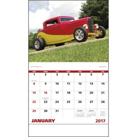 Imprinted Street Rods Stapled Calendar