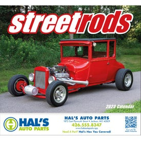 Street Rods Stapled Calendar Branded with Your Logo