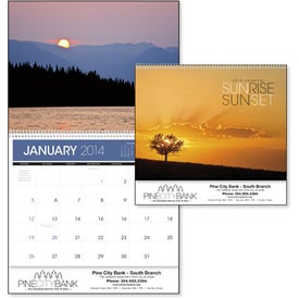 Sunsets Appointment Calendar with Your Slogan