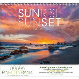 Imprinted Sunsets Appointment Calendar