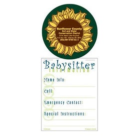 Super Size Press N Stick Babysitter Info List