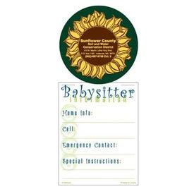 Super Size Press N Stick Babysitter Info List