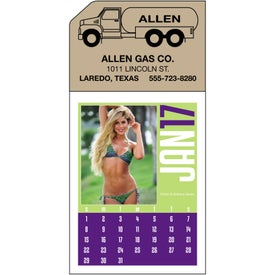 Promotional Swimsuit Stick Up Calendar
