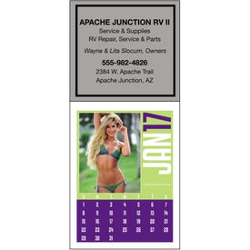Swimsuit Stick Up Calendar Imprinted with Your Logo