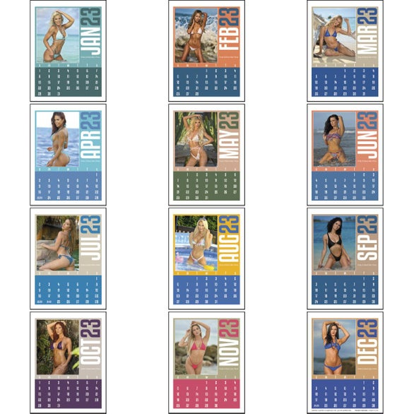 Swimsuit Stick Up Calendar