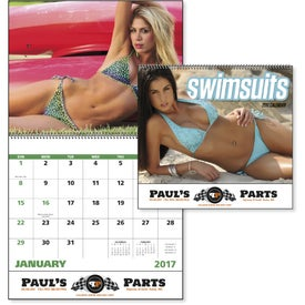 Swimsuits Spiral Calendar for Customization