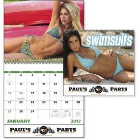 Swimsuits Spiral Calendar for Customization