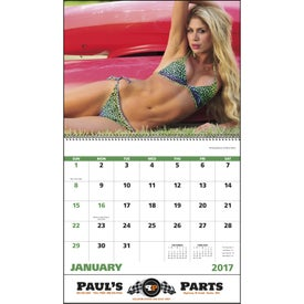 Advertising Swimsuits Spiral Calendar