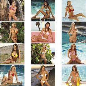 Swimsuits Stapled Calendar for Advertising