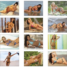 Swimsuits Stapled Calendar for Promotion