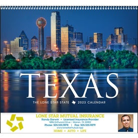 Printed Texas Appointment Calendar