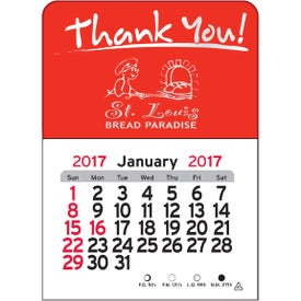 Branded Thank You Vinyl Adhesive Calendar