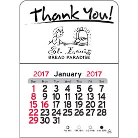 Thank You Vinyl Adhesive Calendar for Your Organization