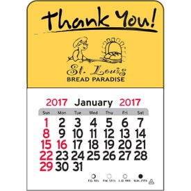 Thank You Vinyl Adhesive Calendar for Your Company