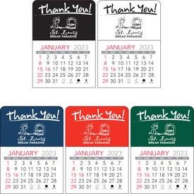 Branded Thank You Vinyl Adhesive Calendar