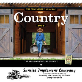 The Old Farmer Almanac Country (Spiral)
