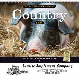 The Old Farmer Almanac Country (Spiral)