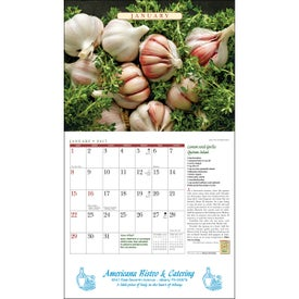 Promotional The Old Farmer Almanac Recipe Wall Calendar
