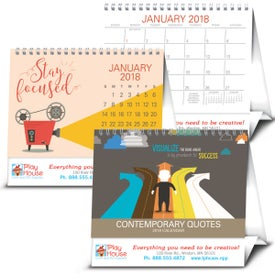 Contemporary Quotes Calendar Imprinted with Your Logo