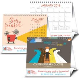 Contemporary Quotes Calendar Imprinted with Your Logo