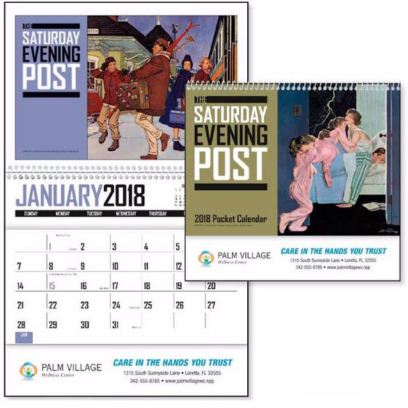 Saturday Evening Post Pocket Calendar