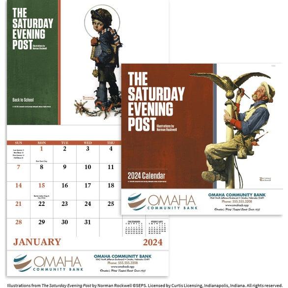 Red Saturday Evening Post Stapled Calendar (2020)