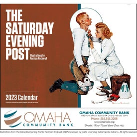 Monogrammed Red Saturday Evening Post Stapled Calendar