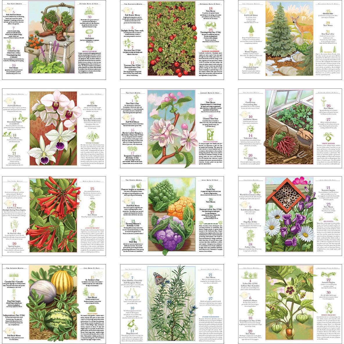 The Old Farmer Almanac Gardening Wall Calendar Spiral
