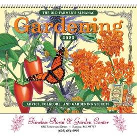 The Old Farmer Almanac Gardening Wall Calendar (Spiral)