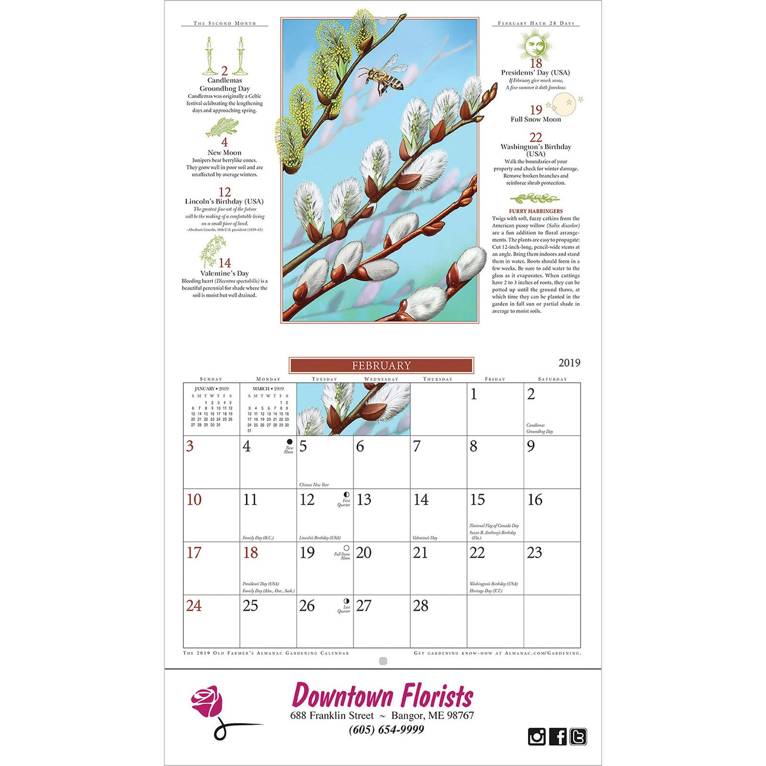 Promotional Stapled The Old Farmer Almanac Gardening Wall Calendars With  Custom Logo For $1.05 Ea.