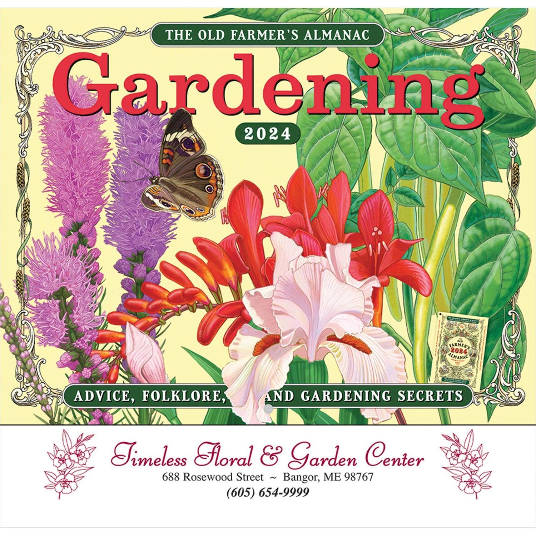 The Old Farmer Almanac Gardening Wall Calendar (Stapled)