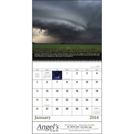 The Power of Nature - Spiral Calendar Branded with Your Logo