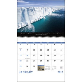Imprinted The Power of Nature - Spiral Calendar