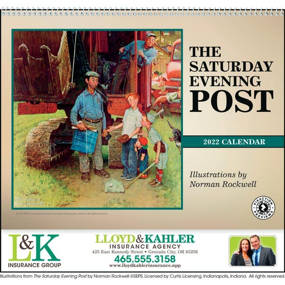 The Saturday Evening Post Appointment Calendar