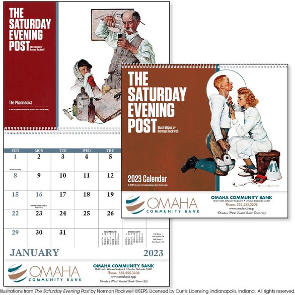 The Saturday Evening Post Spiral Calendar