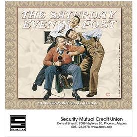 Branded The Saturday Evening Post Stapled Calendar