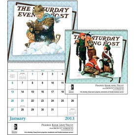 Logo The Saturday Evening Post Stapled Calendar