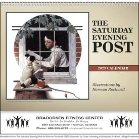 Customized The Saturday Evening Post Deluxe Pocket Calendar