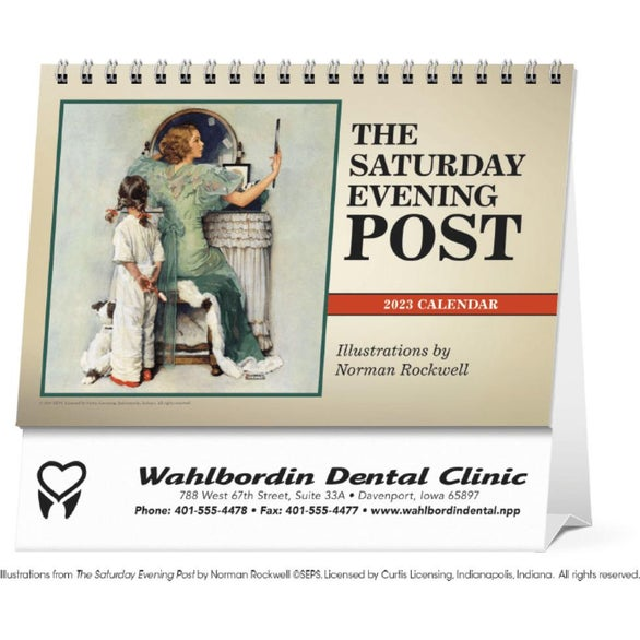 Saturday Evening Post Large Desk Calendar