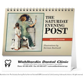 Saturday Evening Post Large Desk Calendar Imprinted with Your Logo