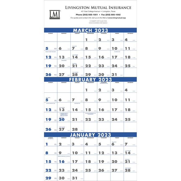 Month Planner (4 - Sheet, 2017) | Custom Calendars | 2.20 Ea.