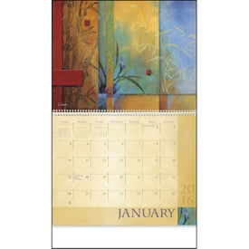 Monogrammed Tranquility Appointment Calendar