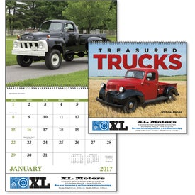 Customized Treasured Trucks Spiral Calendar