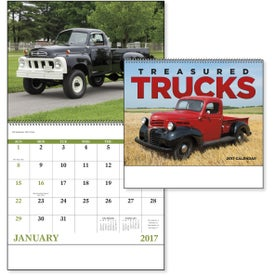 Advertising Treasured Trucks Spiral Calendar